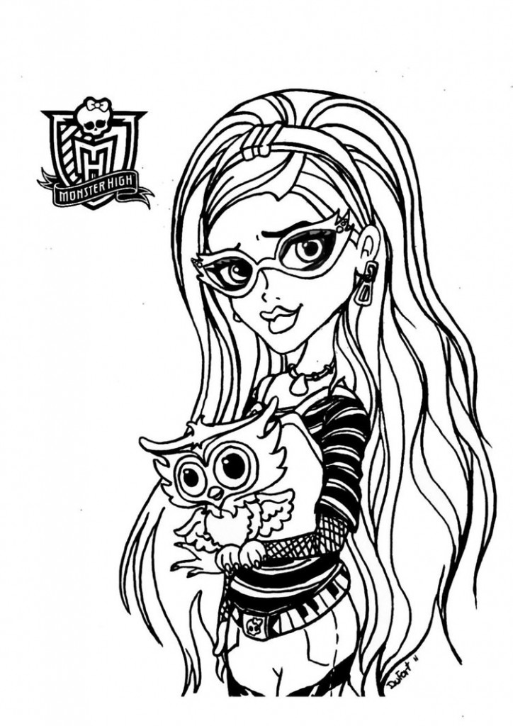 Kids Page Monster High Baby Coloring Ws Coloring Pages