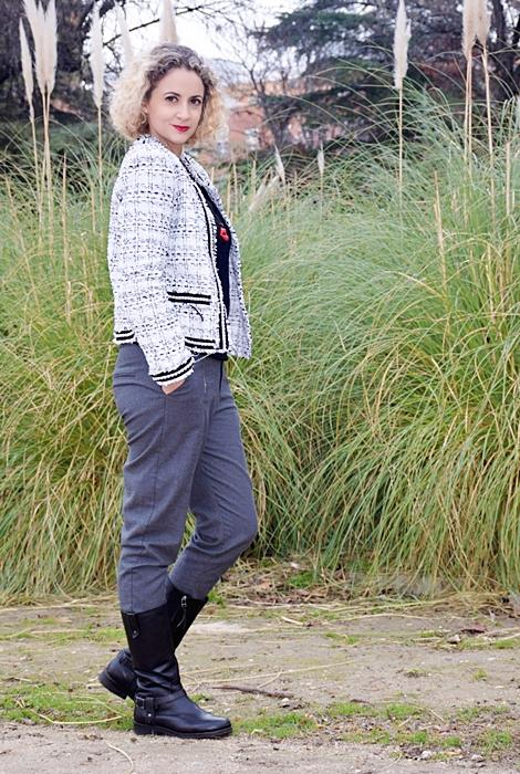 Outfit-Americana-tweed-adorno-perla-2