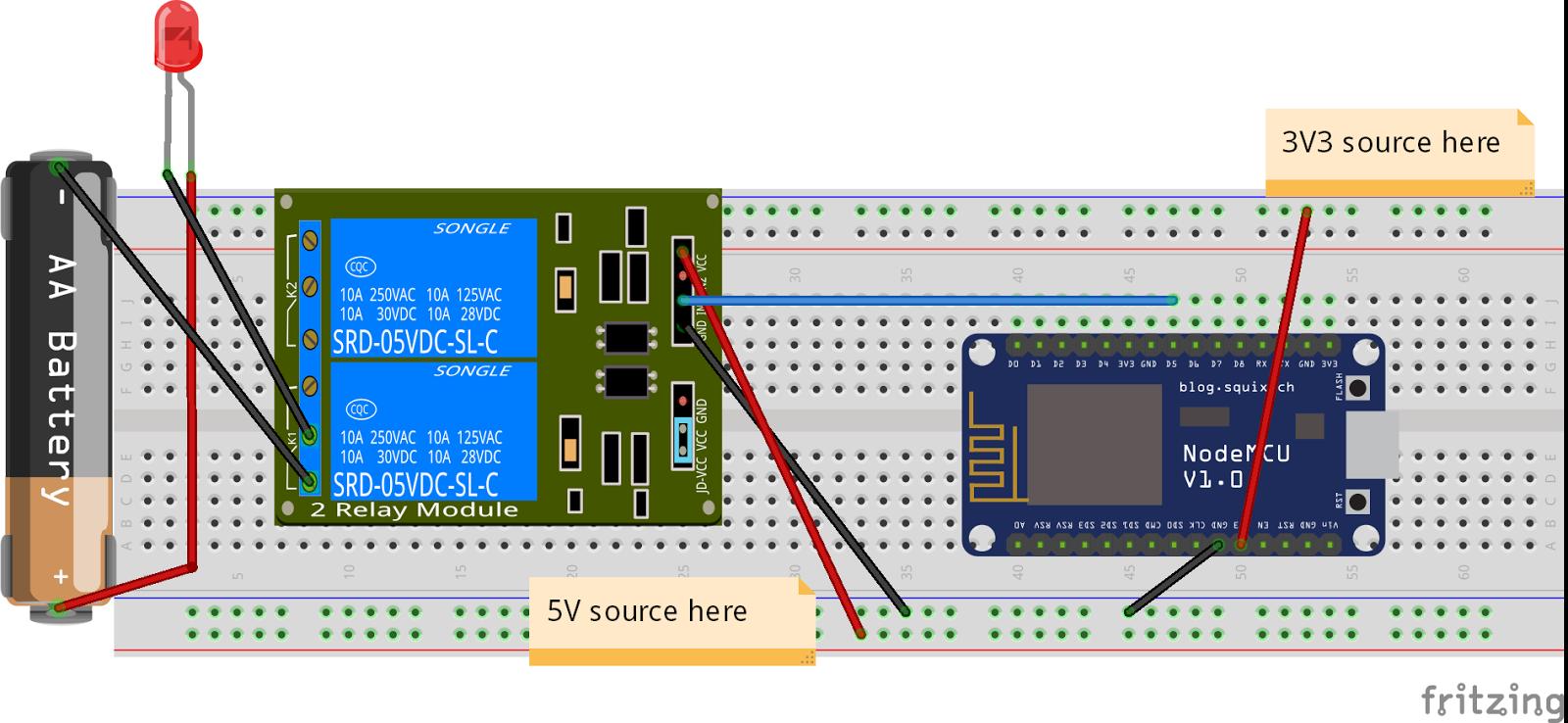 Internet Controlled Switch Using Nodemcu And Mqtt Relay 5 Pin Fritzing Circuit Setup