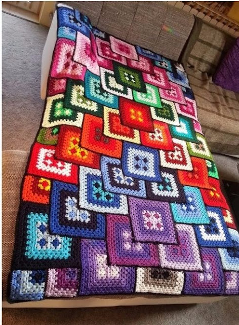 3D crochet blanket pattern