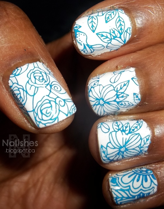 Nail stamping manicure