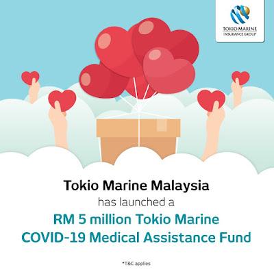 tokio marine, covid-19, bantuan perbelanjaan perubatan covid-19