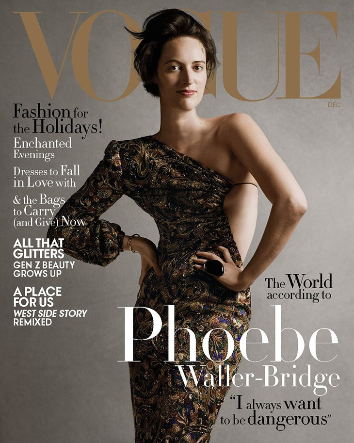 Phoebe Waller-Bridge Covers December 2019 Issue of American Vogue