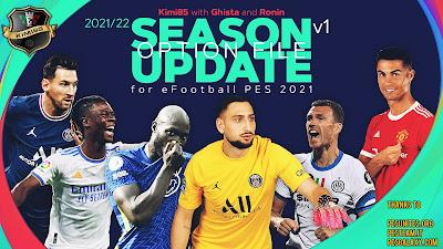 PES 2021 PS5/PS4 Option File Season 2021/2022