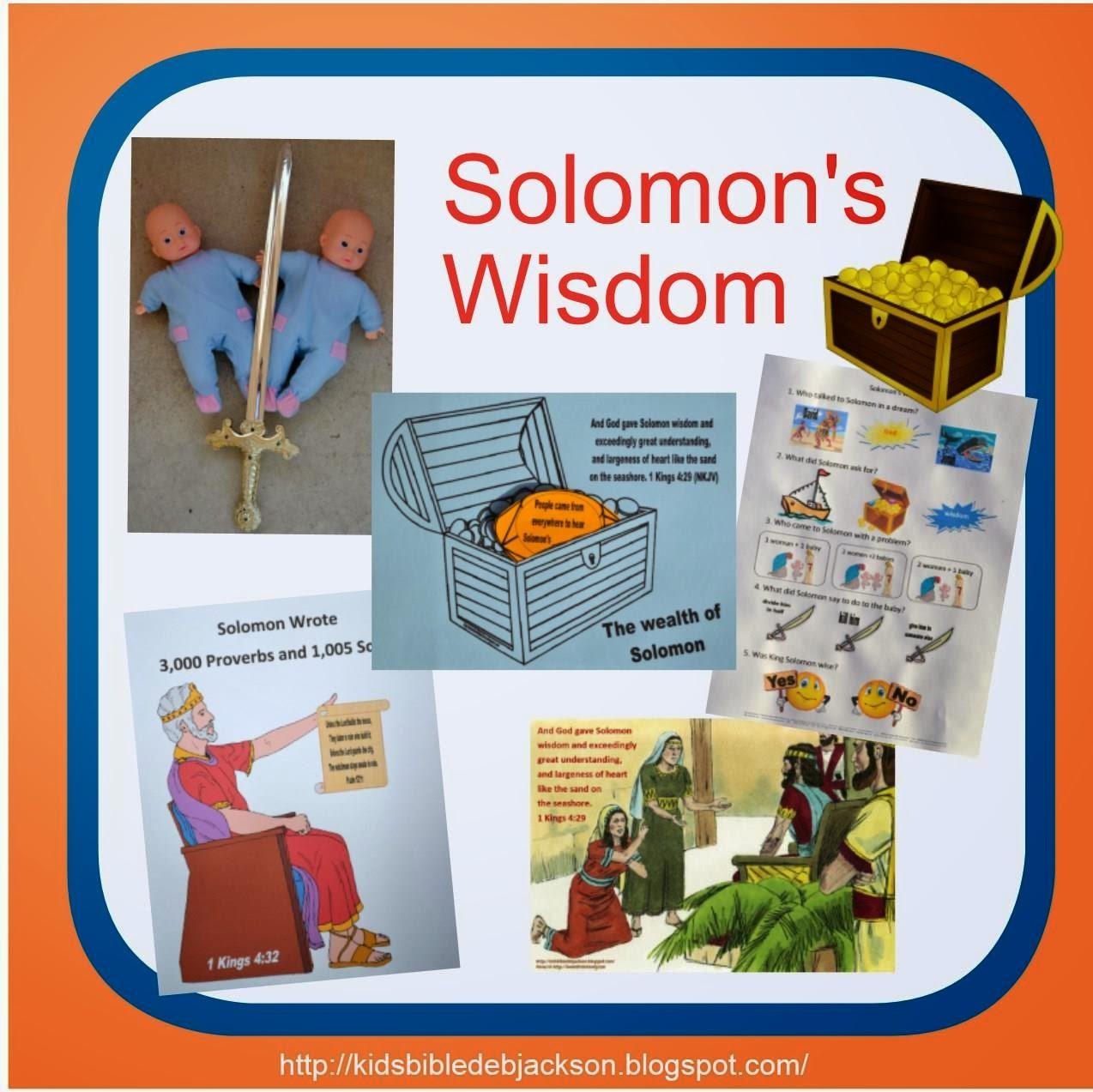 Bible Fun For Kids Solomon S Wisdom