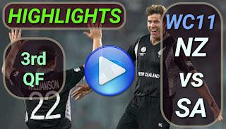 NZ vs SA 3rd QF