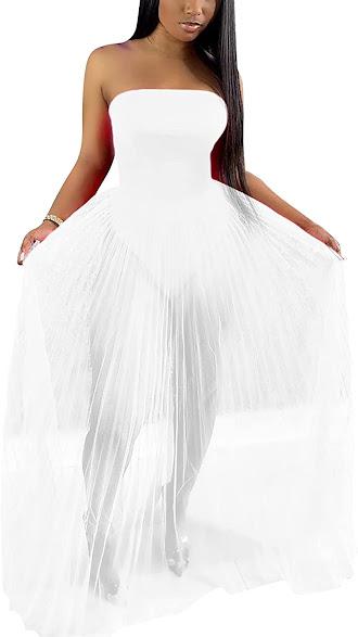 Quality White Strapless Maxi Dresses