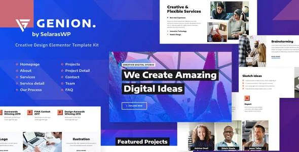 Best Creative & Design Elementor Template Kit