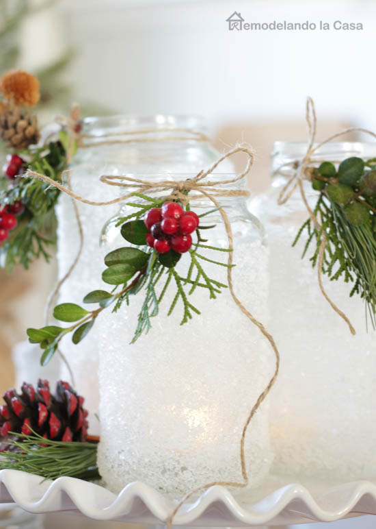how to make Epsom salts luminaries this winter