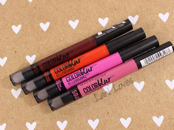 Maybelline Color Blur - I Like To Mauve It, Pink Insanity, Orange Ya Glad and Plum Please Swatches & Review