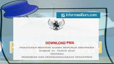 Download/ Unduh PMA (Peraturan Menteri Agama) Nomor 30 Tahun 2020 Tentang Pendirian dan Penyelenggaraan Pesantren I PDF