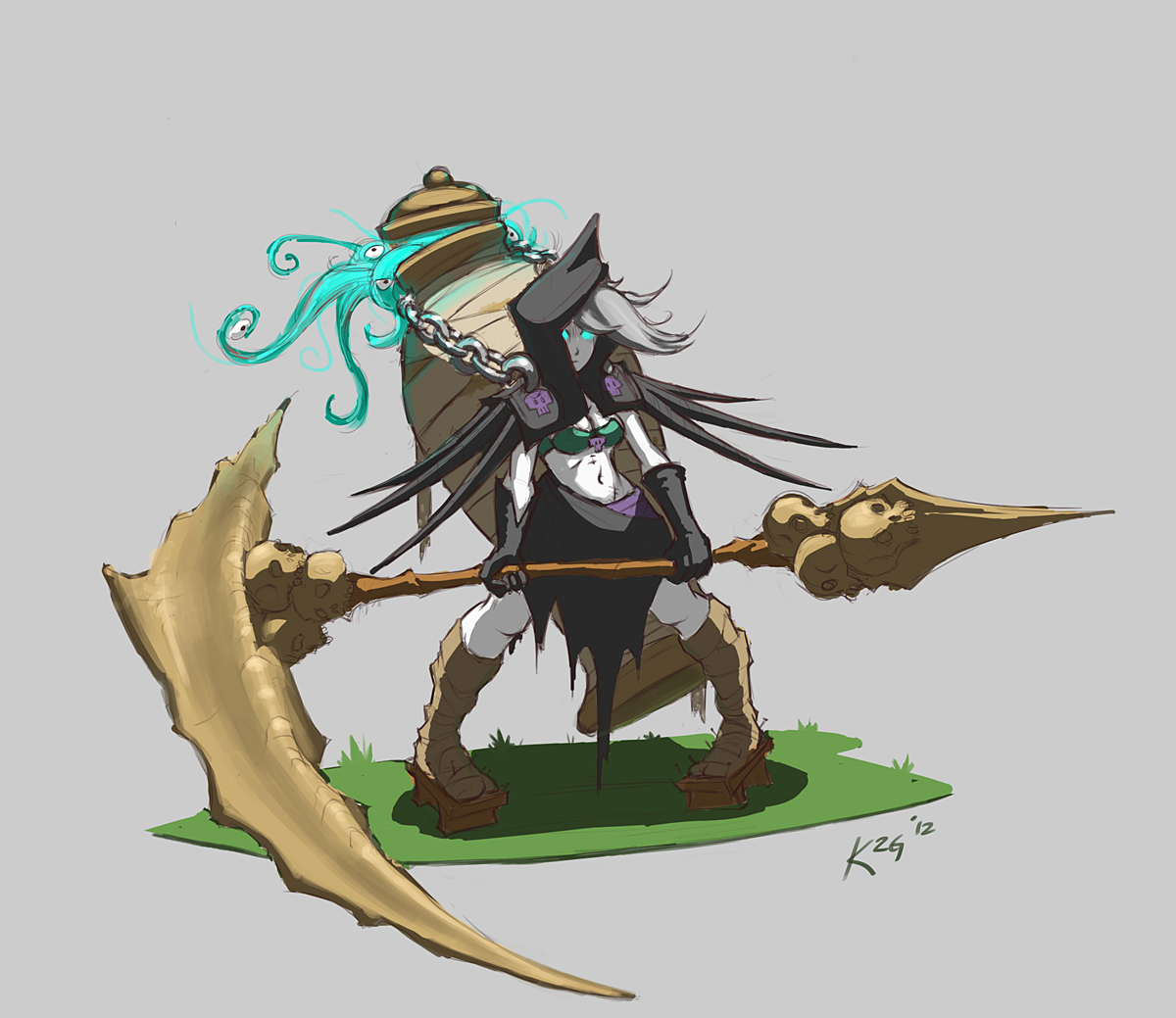 Cow And Cheese Art: Forum Art Challenge - Grim Reaper