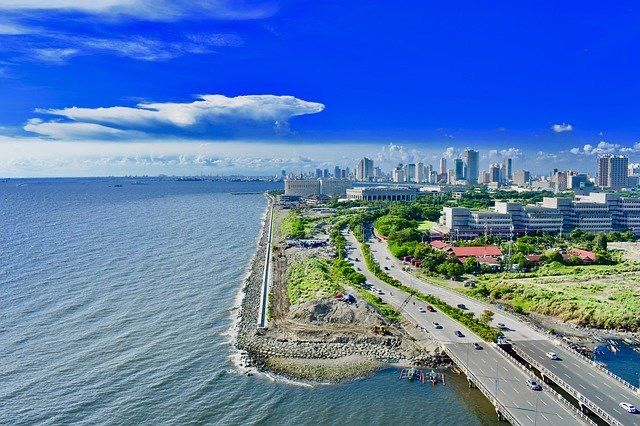 Manila Bay with the Manila skyline