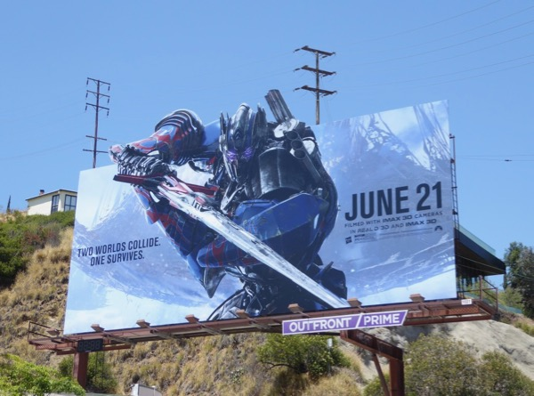 Transformers Last Knight movie billboard