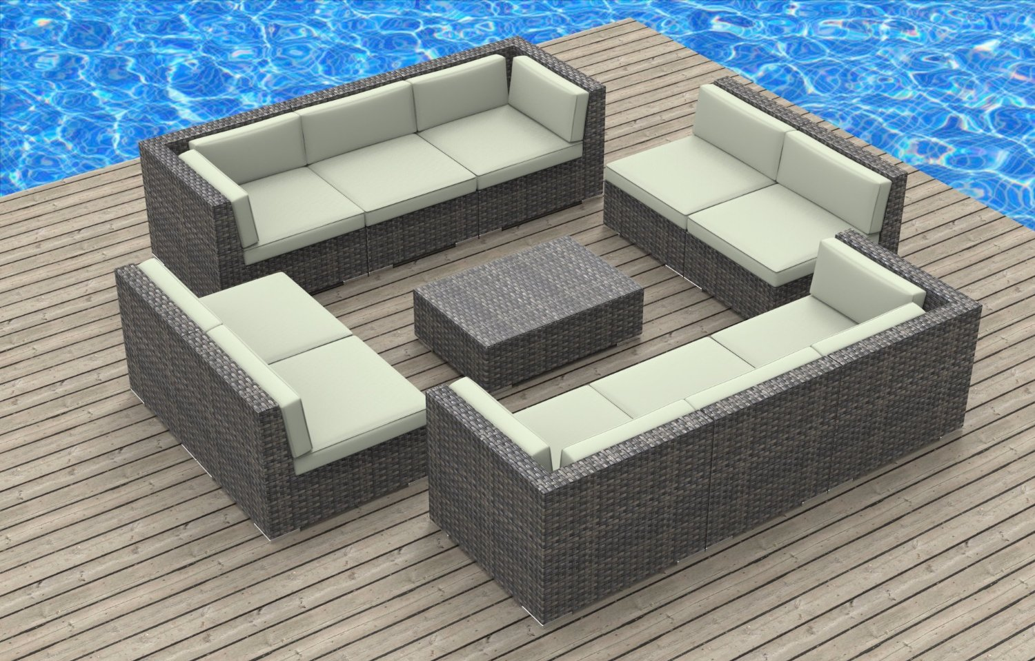 outdoor furniture sofa sectional carlton 3 seater recliner modern wicker sets