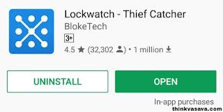 Lockwatch software ko play store se download kare