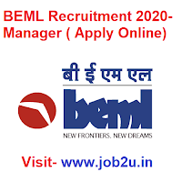 BEML Recruitment 2020, Manager