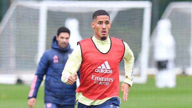 Arsenal defender Willian Saliba