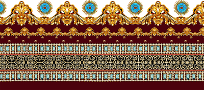 Jwellery border for textile 677