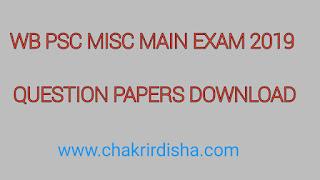Wb Psc Misc Main Exam 2019