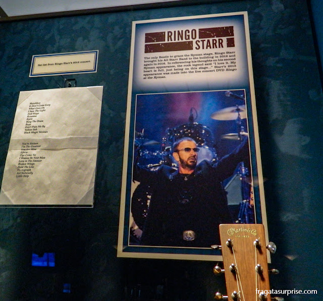 Nashville: Ringo Starr no Museu do Ryman Auditorium