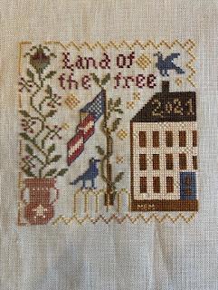 Blackbird Designs Land of the Free Cross stitch