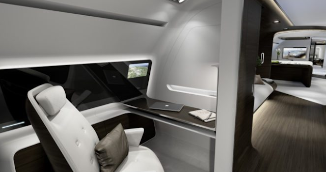 The Mercedes-Benz VIP Airplane Interior