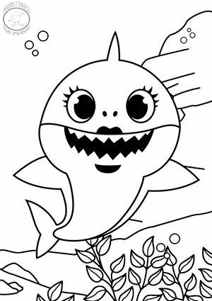 Dibujos de baby shark para colorear 🐋🎶-Imágenes y dibujos ...