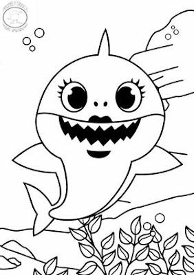 dibujo de ma shark para colorear