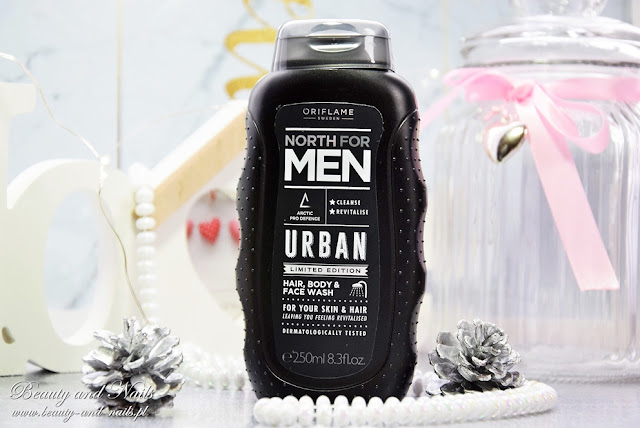 North For Men Urban/ żel i HairX Advanced Care/ odżywka.