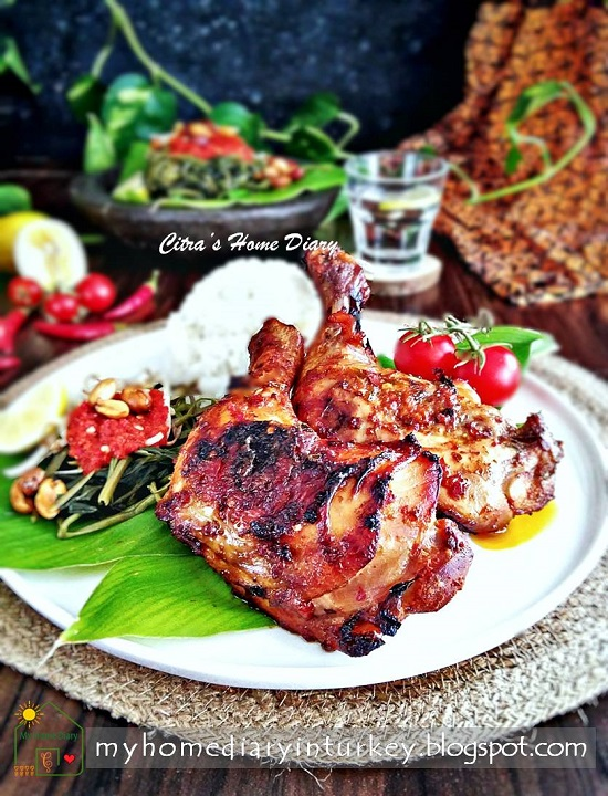 AYAM BAKAR TALIWANG / INDONESIAN SPICY GRILLED CHICKEN FROM LOMBOK | Çitra's Home Diary. #Indonesiancuisines #indonesisch #plecingkangkung #waterspinach #chickenrecipe #asianfoodrecipe #foodphotography #Indonesianfoodrecipe #endonezyamutfağı #ayambakar