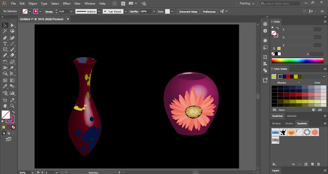 3D Vase in Adobe Illustrator