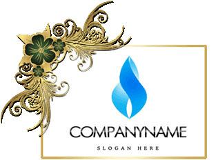 تحميل تصميم شعار شعله زرقاء مفتوح للفوتوشوب, Blue flame psd logo design download