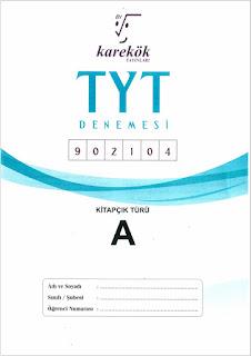 Karekök Yayınları TYT Denemesi 902104 Cevap Anahtarı