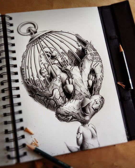 10 Dibujos Geniales Hechos A Lapiz Que Te Sorprenderan Guia Dibujo