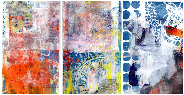 Whoopidooings: Carmen Wing - Experiments with Cyanotype and Acrylic Paint