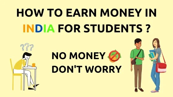 How to make money online in India for students