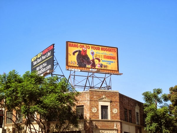 Free Birds movie billboard ad