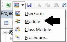 insert module in vba