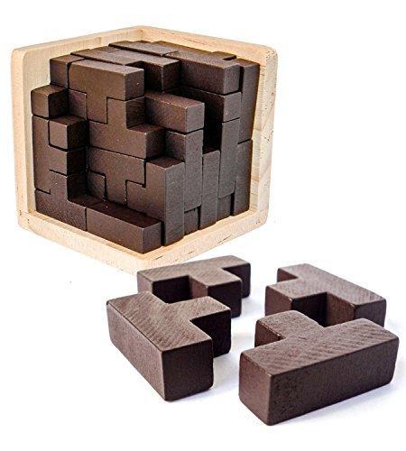3D Wooden Brain TeaserPuzzle