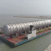 Train Crude Distillation Column for Dangote Refinery Arrives Lagos from China