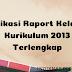 Aplikasi Raport Kelas 4 Kurikulum 2013 Terlengkap
