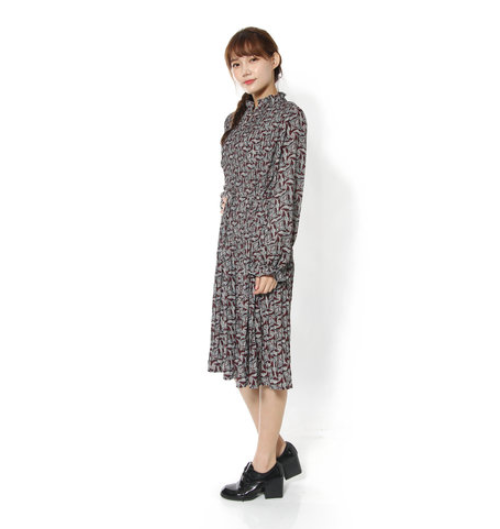 Paisley Pleated Dress