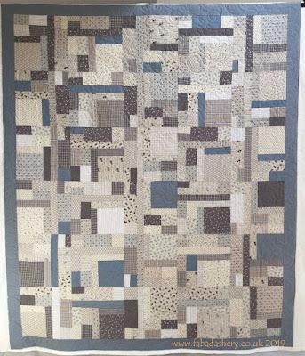 Sandra's Blue Linen Quilt - Patchwork Corner