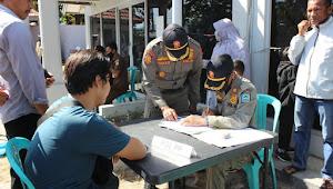 Operasi Yustisi, Kapolres Dompu Berikan Sanksi Bagi Pelanggar Tidak Menggunakan Masker