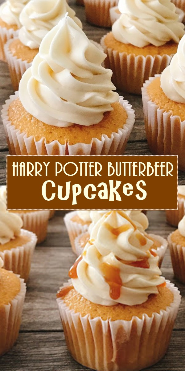 Harry Potter Butterbeer Cupcakes #cupcakerecipes
