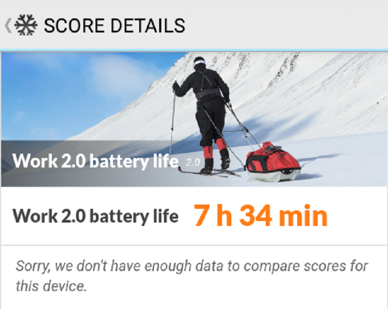 Better battery performance than V5