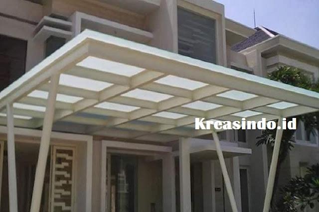 Jasa Pemasangan Canopy Baja Berat Atap Kaca Murah