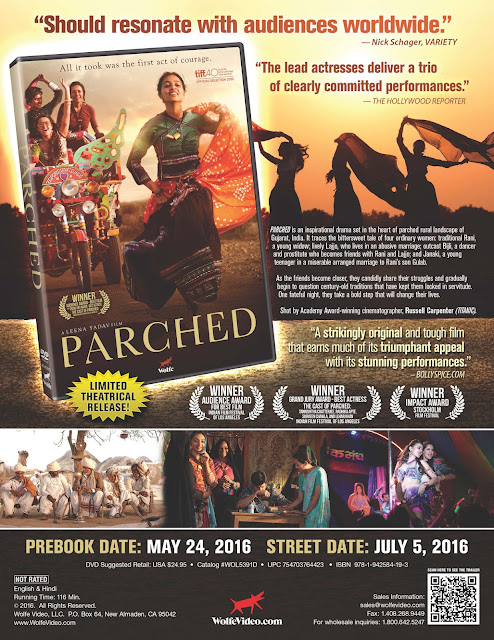 DVD & Blu-ray Release Report, Parched, Ralph Tribbey