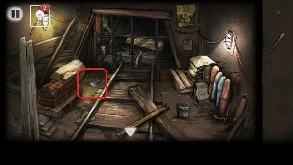 поднимаем головку топора и соединяем с топорищем в игре выход из заброшенной шахты